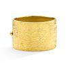 Mish Bark Hinged Cuff, 18k Gold, Bezel-Set Brown Diamond Closure