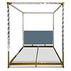 King Size Bed in Lucite & Brass by Charles Hollis Jones