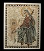6th C. Byzantine Stone Mosaic w/ Mary & Infant Jesus