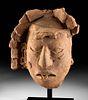 Exhibited Maya Pottery Portrait Head of Ancestor TL'd