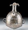Rare Inca Silver Urpu w/ Jaguar