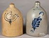 Two New York stoneware jugs, 19th c.