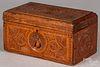 Carved pine dresser box, 19th c.