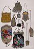 Ten Victorian beadwork and mesh purses.