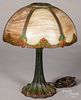 Slag glass table lamp, early 20th c.