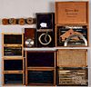 Cased instrument sets, drafting, watchmakers, etc