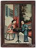 China Trade reverse painting on glass
