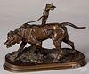P.J. Mene, bronze of a leashed dog
