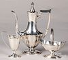Gorham sterling silver three-piece tea service