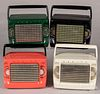 Four Zenith model M403 plastic portable radios
