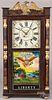 Connecticut mahogany mantel clock
