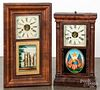 Two mantel clocks
