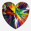 Damien Hirst, Heart Spin Painting
