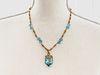 18K Yanes Topaz Diamond Necklace PendantÊ