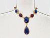 18K Tanzanite Ruby Diamond Necklace