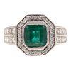 A 2.01 ct Emerald & Diamond Ring in 14K