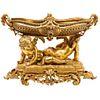 Exceptional Napoleon III French Ormolu Figural Basket Centerpiece with Cherubs