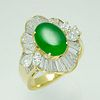 A JADE DIAMOND RING