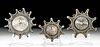 3 Roman Silver & Gilt Silver Fibulae - Tutulus Shape