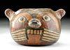 Nazca / Huari Polychrome Feline Vessel