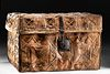 18th C. Mexican Colonial Leather Petaca Traveling Trunk