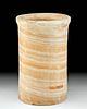Egyptian Late Dynastic Banded Alabaster Jar
