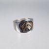 14K Gold Buffalo Style Ring