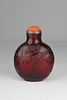 19th C. Chinese Ruby Red Glass Snuff Bottle