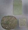 (3) Chinese Carved Jade Pendants