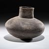 A Mississpian Greyware Pottery Jar, 8-1/2 x 9-1/2 in.