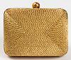 Chanel Woven Gold-Tone Minaudière Handbag