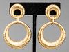 Vintage 18K Yellow Gold Detachable Drop Earrings