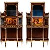 Francois Linke, Rare & Important Pair of French Ormolu & Vernis Martin Vitrines