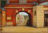 René Rimbert Oil Painting 'Entry To Town'