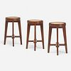 Pierre Jeanneret, Stools from Punjab University, Chandigarh, set of three