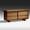 George Nakashima, Custom Hi-Fi/Bar cabinet