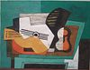 Cubist Still Life with Guitar, Severini