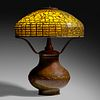 Tiffany Studios, Dichroic Vine Ornament table lamp