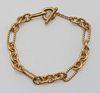 David Yurman 18k Gold Toggle Bracelet