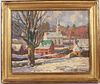 "John C Traynor, Oil on Canvas, ""Saxtons River"""