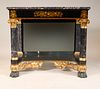 Classical Parcel-Gilt Marble-Top Mirrored Table