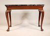 George II Carved Mahogany Marble Top Pier Table