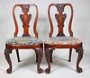 Pair George II Anglo-Chinese Huang Huali Chairs