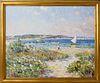 "Jan Pawlowski Oil on Canvas ""Inner Harbor - Nantucket"""