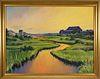 "Illya Kagan Oil on Canvas ""Hither Creek Nantucket"""