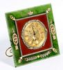 (Attributed to) Faberge Spinach Jade Easel Desk Clock