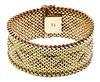 Eftepi 18k Yellow Gold Mesh Bracelet