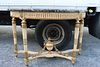 Antique Continental Gilt Marble Top Console