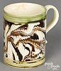 Small mocha mug, with marbleized glaze