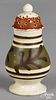 Mocha pepper pot, with twig decoration